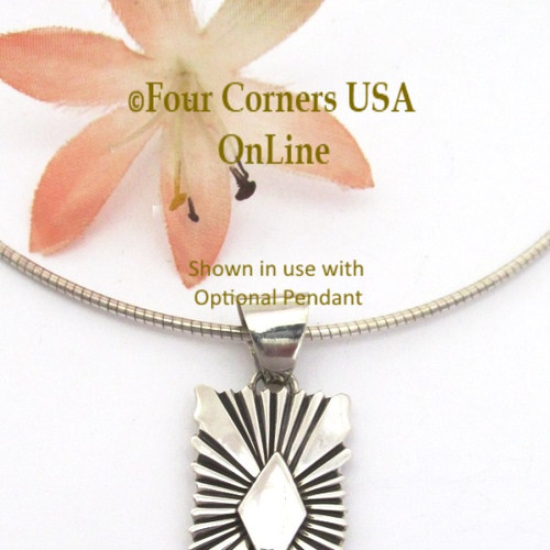 16 Inch 1.5mm Omega Style Sterling Silver Chain with Lobster Clasp CHAIN-009-15 Four Corners USA OnLine