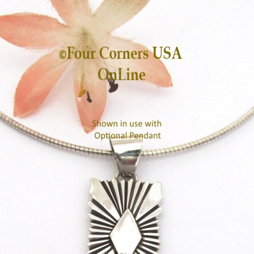 18 Inch 1.5mm Omega Style Sterling Silver Chain with Lobster Clasp CHAIN-008-15 Four Corners USA OnLine
