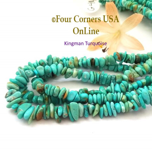 6mm Blue Kingman Turquoise Nugget Bead Strands Group 41 KNG-G41 Four Corners USA OnLine Jewelry Making Beading Supplies