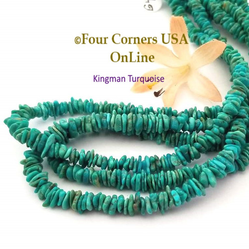 6mm Teal Kingman Turquoise Nugget Bead Strands Group 43 KNG-G43 Four Corners USA OnLine Jewelry Making Beading Supplies
