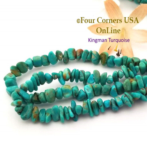 On Sale Now! 6mm Teal Kingman Turquoise Nugget Bead Strands Group 45 Four Corners USA OnLine Jewelry Making Beading Supplies