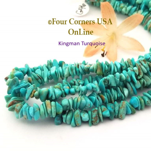 7mm Blue Kingman Turquoise Nugget Bead Strands Group 46 Four Corners USA OnLine Jewelry Making Beading Supplies