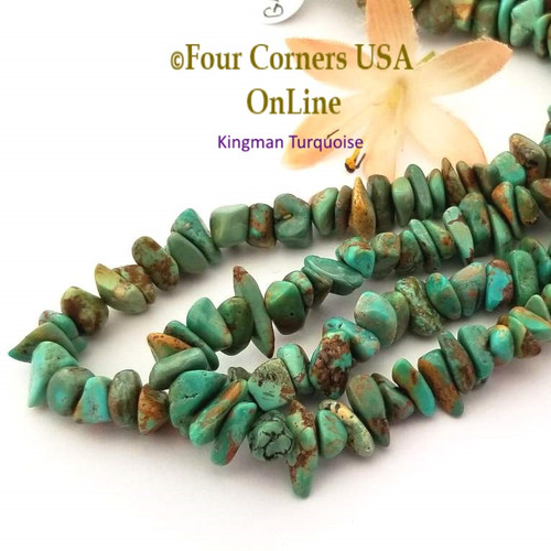 On Sale Now! 9mm Green Copper Kingman Turquoise Nugget Bead Strands Group 48 Four Corners USA OnLine Jewelry Making Beading Supplies