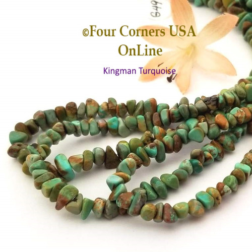 On Sale Now! 5mm Green Copper Kingman Turquoise Nugget Bead Strands Group 49 Four Corners USA OnLine Jewelry Making Beading Supplies