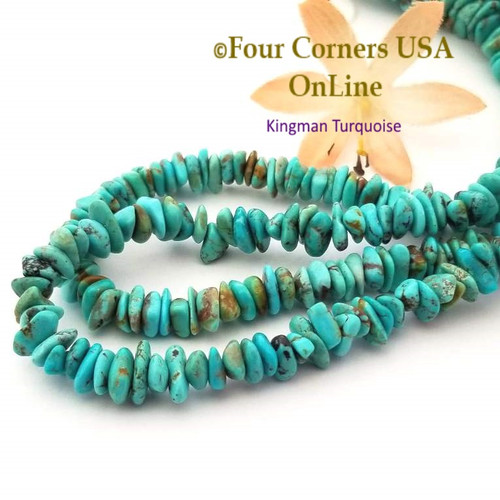 7mm Blue Kingman Turquoise Nugget Bead Strands Group 50 Four Corners USA OnLine Jewelry Making Beading Supplies