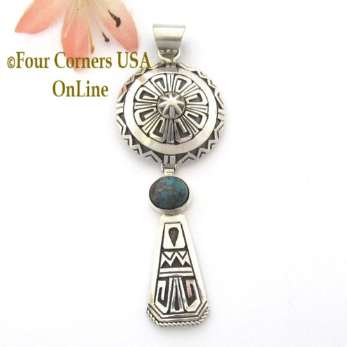 Overlay Dome Shield Turquoise Pendant Navajo Gary Nez NAP1679CL Special Buy Four Corners USA OnLine Native American Jewelry