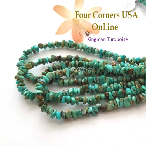 5mm Blue Green Kingman Turquoise Nugget Bead Strands Group 51 Four Corners USA OnLine Designer Beading Jewelry Making Supplies