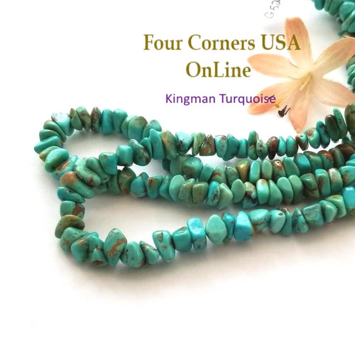 8mm Blue Kingman Turquoise Nugget Bead Strands Group 52 Four Corners USA OnLine Designer Beading Jewelry Making Supplies