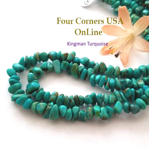 7mm Blue Kingman Turquoise Nugget Bead Strands Group 53 Four Corners USA OnLine Designer Beading Jewelry Making Supplies
