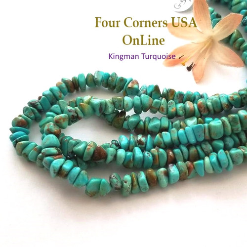 7mm Blue Green Kingman Turquoise Nugget Bead Strands Group 54 Four Corners USA OnLine Designer Beading Jewelry Making Supplies