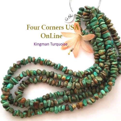 7mm Green Copper Kingman Turquoise Nugget Bead Strands Group 56 Four Corners USA OnLine Designer Beading Jewelry Making Supplies