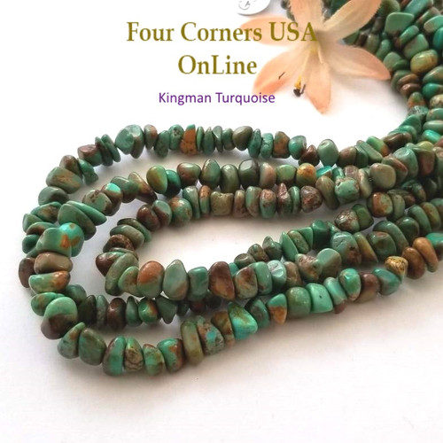 On Sale Now! 7mm Green Copper Kingman Turquoise Nugget Bead Strands Group 56 Four Corners USA OnLine Designer Beading Jewelry Making Supplies