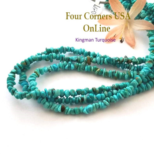 4mm Blue Kingman Turquoise Nugget Bead Strands Group 57 Four Corners USA OnLine Designer Beading Jewelry Making Supplies