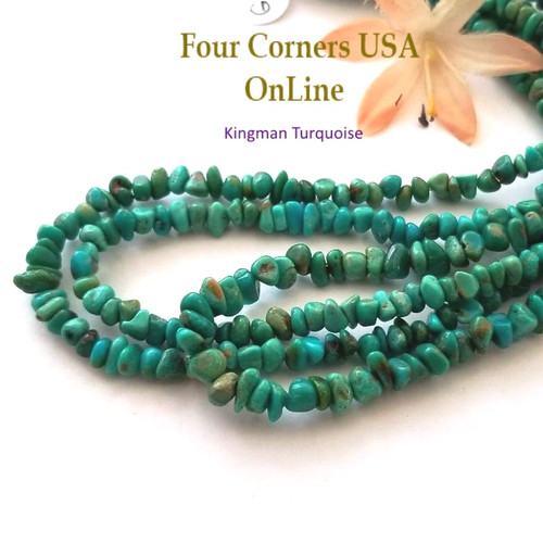 5mm Teal Kingman Turquoise Nugget Bead Strands Group 58 Four Corners USA OnLine Designer Beading Jewelry Making Supplies