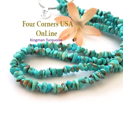 5mm Blue Kingman Turquoise Nugget Bead Strands Group 59 Four Corners USA OnLine Designer Beading Jewelry Making Supplies