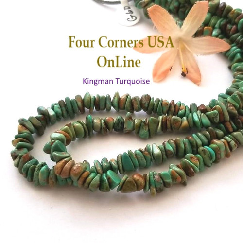 7mm Green Kingman Turquoise Nugget Bead Strands Group 60 Four Corners USA OnLine Designer Beading Jewelry Making Supplies
