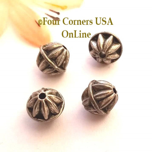 10mm Oxidized Silver Plated Beads 10 Pack BDZ-1905 Four Corners USA OnLine Jewelry Making Beading Craft Supplies
