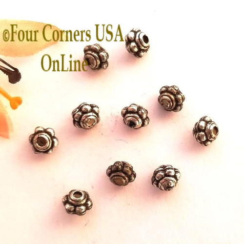 5mm Oxidized Silver Plated Spacer Beads 20 Pieces Special Buy Final Sale BDZ-1922 Four Corners USA OnLine Jewelry Making Beading Craft Supplies