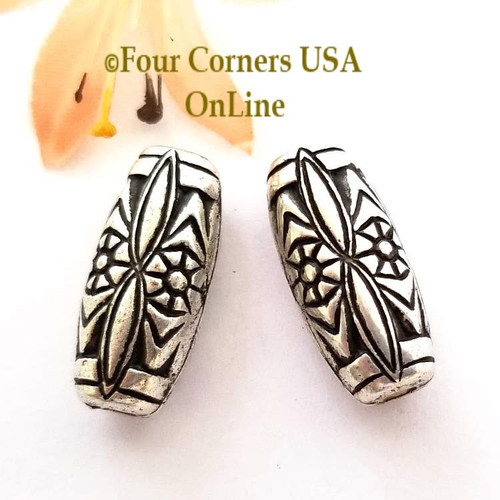 25mm Etched Melon Oxidized Silver Plated Beads 6 Pieces Special Buy Final Sale BDZ-1949 Four Corners USA OnLine Jewelry Making Beading Craft Supplies