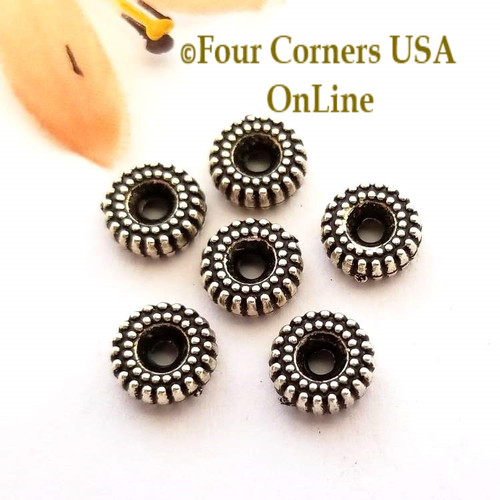 8mm Gear Oxidized Silver Plated Beads 30 Pieces Special Buy Final Sale BDZ-1952 Four Corners USA OnLine Jewelry Making Beading Craft Supplies