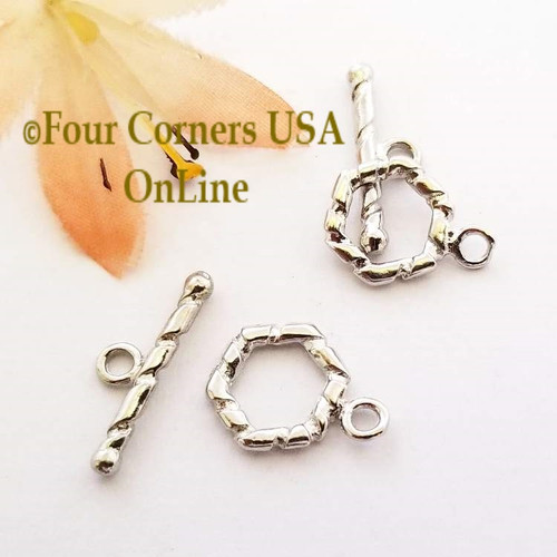 11mm Silver Plated Small Toggle Clasp 20 Sets Special Buy Final Sale BDZ-1958 Four Corners USA OnLine Jewelry Making Beading Craft Supplies