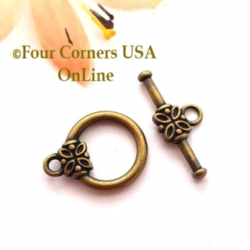Toggle Clasp Antiqued Brass Jewelry Finding 10 Sets Closeout Final Sale BDZ-1970 Four Corners USA OnLine Jewelry Making Beading Craft Supplies