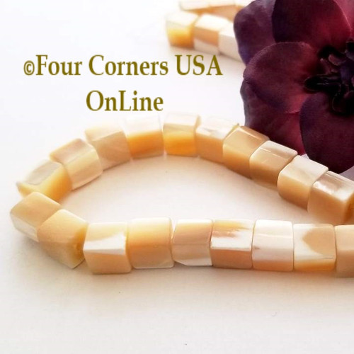 12mm Cube Mother of Pearl Shell Bead Strands Four Corners USA OnLine Jewelry Making Beading Craft Supplies