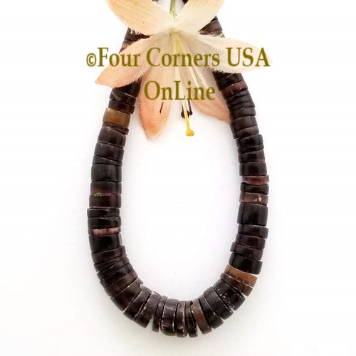 Graduated Brown Pen Shell Heishi Bead Strands Four Corners USA OnLine Jewelry Making Beading Craft Supplies