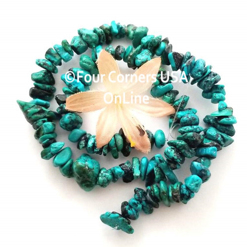 Turquoise Tumbled Nuggets 16 inch Bead Strands Closeout Final Sale Four Corners USA OnLine Designer Jewelry Making Beading Craft Supplies