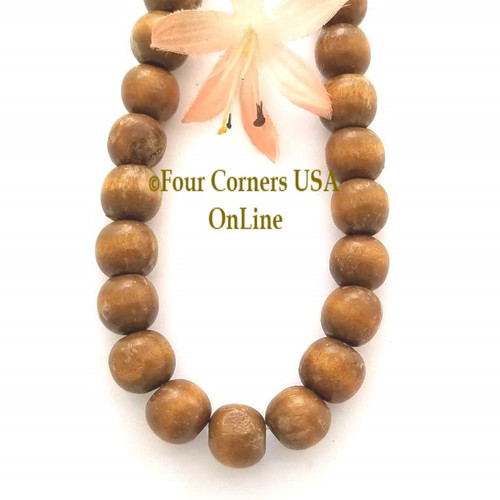 10mm Round Wood Beads 16 Inch Four Corners USA OnLine Designer Jewelry Making Beading Craft Supplies