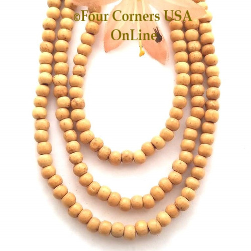 4mm Rondelle Wood Beads 16 Inch Four Corners USA OnLine Designer Jewelry Making Beading Craft Supplies