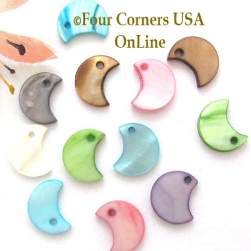 12mm Moon Shell MOP Drops Approximately 100 Pieces BDZ-2012 Four Corners USA OnLine Designer Jewelry Making Beading Craft Supplies