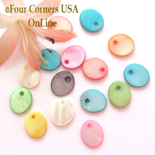 12mm Oval Shell MOP Drops Approximately 100 Pieces BDZ-2013 Four Corners USA OnLine Designer Jewelry Making Beading Craft Supplies