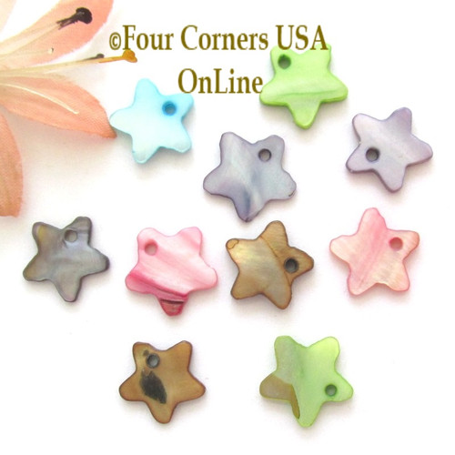 13mm Star Shell MOP Drops Approximately 100 Pieces BDZ-2015 Four Corners USA OnLine Designer Jewelry Making Beading Craft Supplies