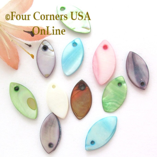 18mm Marquis Shell MOP Drops Approximately 100 Pieces BDZ-2016 Four Corners USA OnLine Designer Jewelry Making Beading Craft Supplies