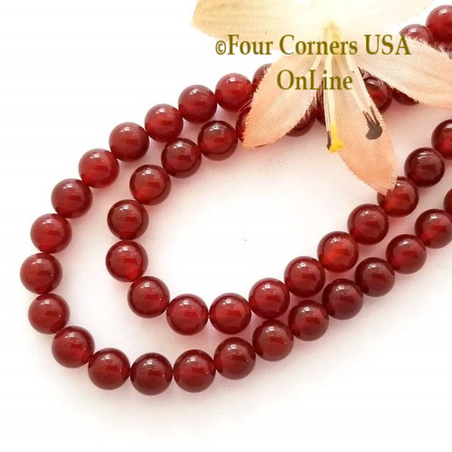 Carnelian 6mm Smooth Round 16 Inch Bead Strands Four Corners USA OnLine Designer Jewelry Making Beading Craft Supplies BDZ-2025
