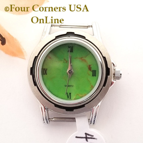 Women's 41W Mohave Green Kingman Turquoise Stone Watch Face 12mm pin NAWF-MG-41W Closeout Final Sale Four Corners USA OnLine Southwest Jewelry Supplies