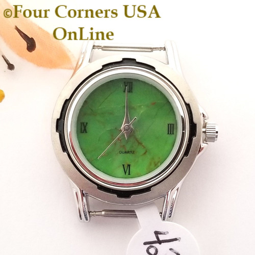 Women's 42W Mohave Green Kingman Turquoise Stone Watch Face 12mm pin NAWF-MG-42W Closeout Final Sale Four Corners USA OnLine Southwest Jewelry Supplies
