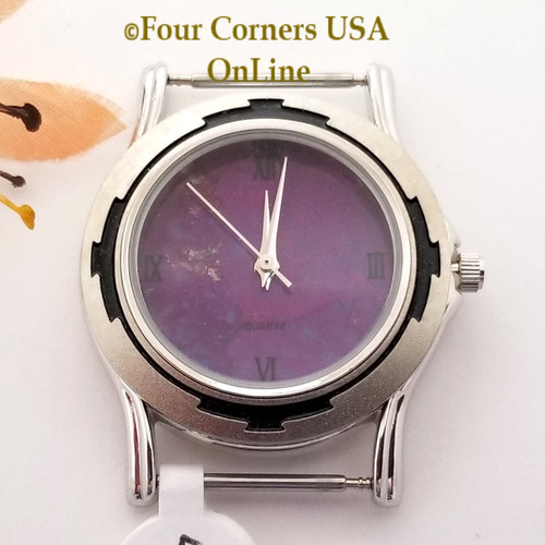 Men's 42M Mohave Purple Kingman Turquoise Stone Watch Face 18mm pin NAWF-MP-42M Four Corners USA OnLine Southwest Jewelry Supplies