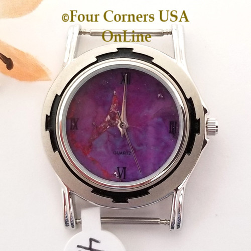 Men's 43M Mohave Purple Kingman Turquoise Stone Watch Face 18mm pin NAWF-MP-43M Four Corners USA OnLine Southwest Jewelry Supplies