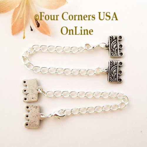 3-Strand End Bar Antiqued Brass Lobster Clasp with Extender Chain Closeout Final Sale PF-09029-AB Four Corners USA OnLine Jewelry Making Beading Craft Supplies