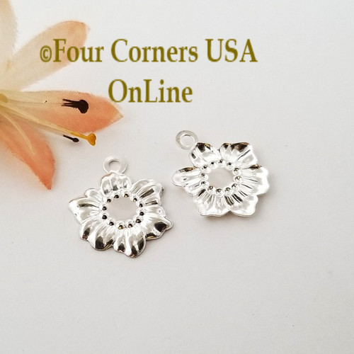 Sunflower Charms 20 Pieces Bright Silver Plated Jewelry Component BDZ-2074 Closeout Final Sale Four Corners USA Online Jewelry Making Beading Crafting Supplies