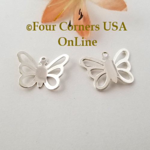 Butterfly Charms 10 Pieces Bright Silver Plated Jewelry Component BDZ-2080 Closeout Final Sale Four Corners USA Online Jewelry Making Beading Crafting Supplies
