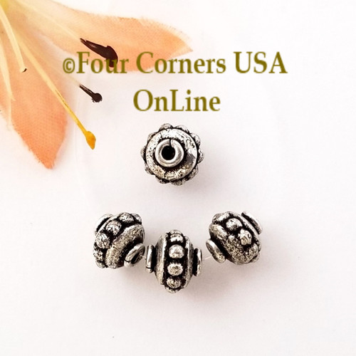 6mm Pumpkin Saucer Bead Sterling over Copper Closeout Final Sale BDZ-2084 Four Corners USA OnLine Jewelry Making Beading Craft Supplies