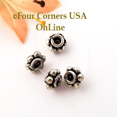 8mm Rondelle Bead Sterling over Copper Closeout Final Sale BDZ-2085 Four Corners USA OnLine Jewelry Making Beading Craft Supplies