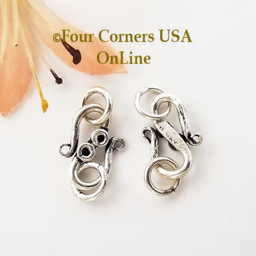 16mm S Hook Clasp Sterling over Copper Special Buy Final Sale BDZ-2087 Four Corners USA OnLine Jewelry Making Beading Craft Supplies