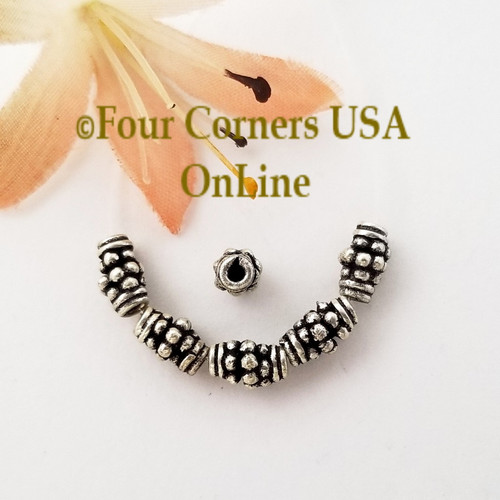 Tapered Barrel Bead Sterling over Copper Closeout Final Sale BDZ-2092 Four Corners USA OnLine Jewelry Making Beading Craft Supplies