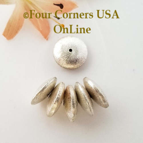 Saucer 16mm Bead Brushed Sterling over Copper Closeout Final Sale BDZ-2094 Four Corners USA OnLine Jewelry Making Beading Craft Supplies