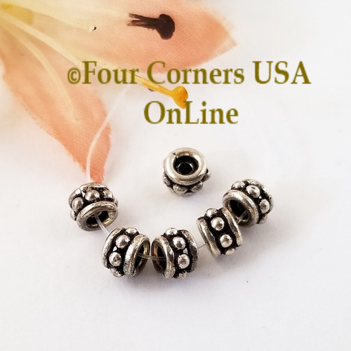 Tube Spacer Bead Sterling over Copper Closeout Final Sale BDZ-2099 Four Corners USA OnLine Jewelry Making Beading Craft Supplies