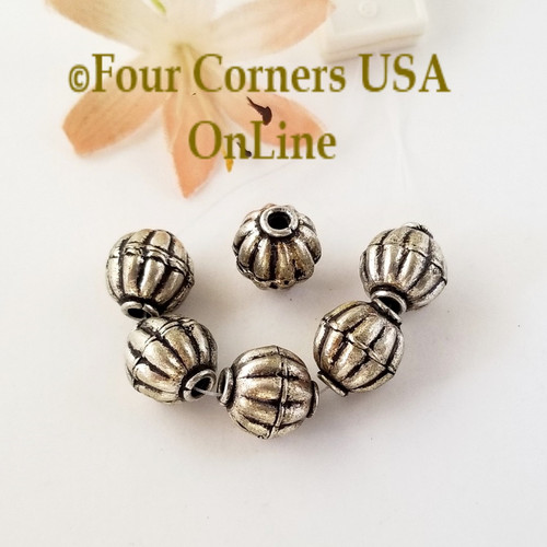 12mm Pumpkin Bead Sterling over Copper Closeout Final Sale BDZ-2100 Four Corners USA OnLine Jewelry Making Beading Craft Supplies